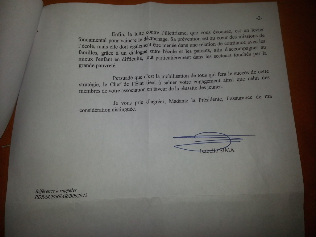 reponse isabelle Sima 2